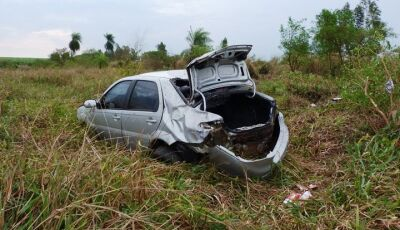 IVINHEMA: Capotamento deixa homem ferido na MS-276