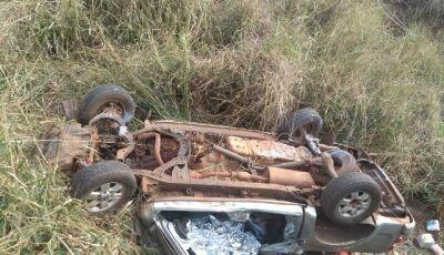 Empresário e filha morrem em capotamento na BR-163 entre Caarapó e Juti