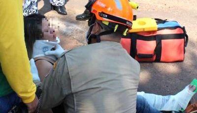 Acidente envolvendo carro e moto deixa mais uma vítima ferida