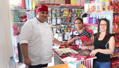 Aula Show Selecta Chocolates da Festa Mania foi um sucesso em Fátima do Sul