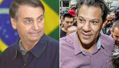 Pesquisa: Bolsonaro tem 54% dos votos válidos; Haddad, 46%