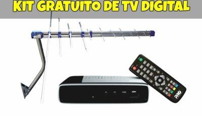 Mais de 13 mil famílias da região de Dourados já retiraram o kit gratuito para TV digital