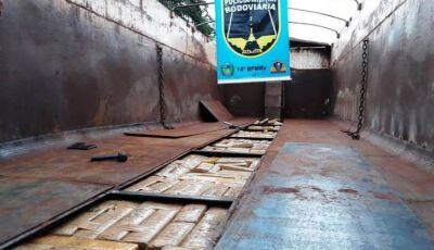 PMR apreende quase 1 tonelada de maconha em carreta entre Indápolis a Deodápolis