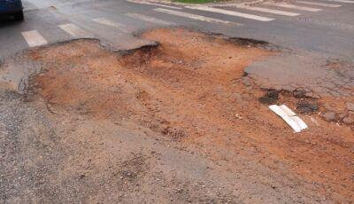 DEODÁPOLIS: Má administração gera caos no município e buracos toma de conta, VEJA FOTOS