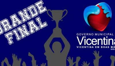 Neste domingo tem a grande final do campeonato de futebol em VICENTINA