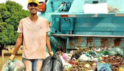 Coletor de lixo de Anaurilândia vai realizar sonho de cantar na TV