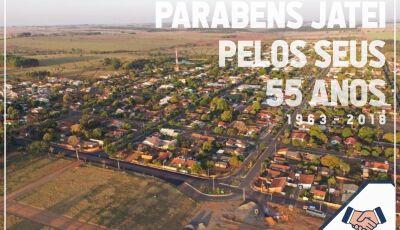 Jateí comemora neste domingo 55 anos, prefeito Eraldo parabeniza e agradece população
