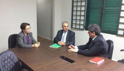 Em reunião com futura ministra, Governador garante recuperação da Malha Oeste