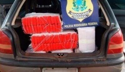 Após perseguição traficante com veículo de Ivinhema é preso com mais de 200 quilos de maconha