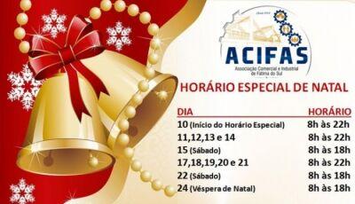 Comércio abre até às 22 horas a partir de 10 de dezembro em Fátima do Sul