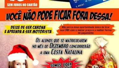 Vai tirar CNH?, ultima semana da promoção de Natal da Auto Escola Favo de Mel em Fátima do Sul