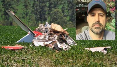 Avião agrícola cai e mata piloto em cidade de MS