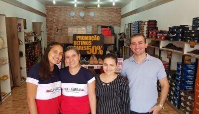 Loja das Fábricas Calçados com diversos descontos e prazos em toda loja em Fátima do Sul