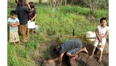 Índios continuam sofrendo com a escassez de água
