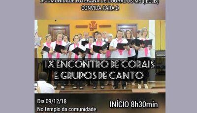 Comunidade Luterana realizará o IX Encontro de Corais e Grupos de Canto em Dourados