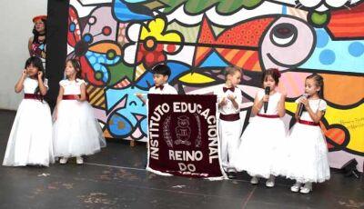 Formatura da turma do Pré da Escola Reino do Saber foi emocionante em Fátima do Sul