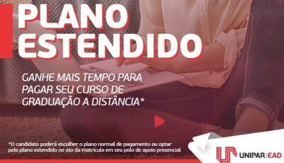Unipar EAD lança campanha Plano Estendido com mensalidades que cabem no seu bolso em Dourados