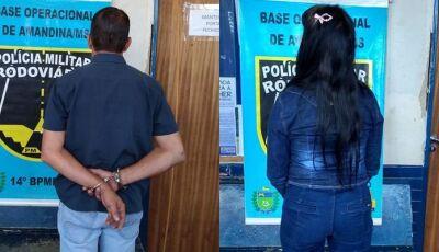 IVINHEMA: PMR prende casal transportando cocaína na MS-276