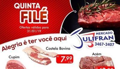 QUINTA FILÉ é no Mercado Julifran, confira as ofertas em Fátima do Sul