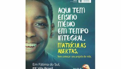 Fátima do Sul tem um diferencial em educação. Escola de Autoria de Tempo Integral: E.E. Vila Brasil
