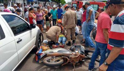 Mulher de Biz é atingida por Fiat Strada na região central de Nova Andradina