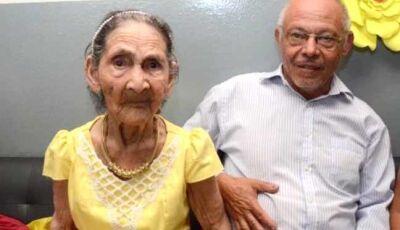 Lar do Idoso comemora 101 anos de Dona Etelvina em Fátima do Sul
