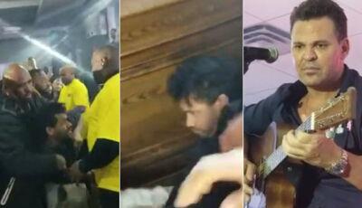 """Sertanejo pede para seguranças darem uns """"tapas"""" em fã bêbado"""
