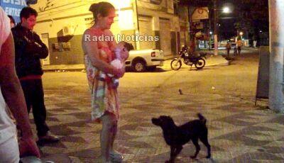 Transtornada, mulher é impedida pela PM de Ponta Porã de matar seus filhos menores