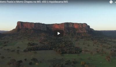 VÍDEO: Morro Paxixi e Morro Chapeu na MS-450 em Aquidauana - Imagens aéreas