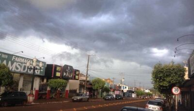 Tempo nublado em Fátima do Sul e meteorologia alerta para muita chuva