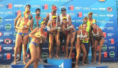 Com atleta de Ivinhema, dupla vence etapa do Chile de Circuito Sul-Americano de vôlei de praia