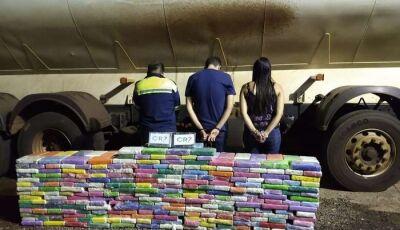 Força Tática apreende 537 quilos de cocaína avaliado em R$ 20 milhões em Deodápolis