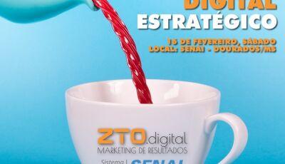 Curso de marketing digital estratégico com matrículas abertas, parceria com SENAI em Dourados
