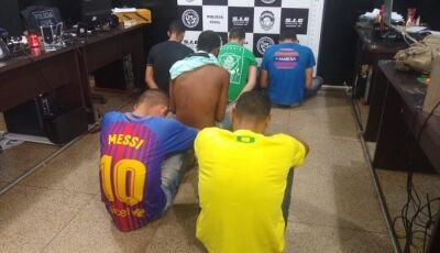 Em operação de combate a crimes Polícia prende 6 jovens em Dourados