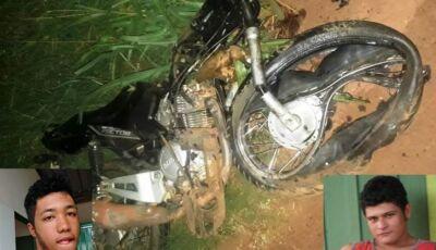Identificados os dois jovens mortos em acidente com moto e carro em Deodápolis