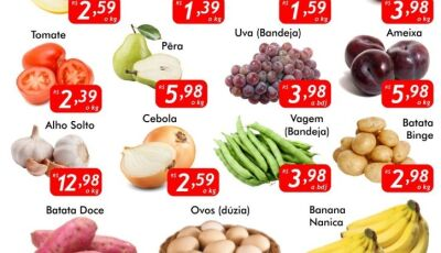QUARTA VERDE no Mercado Julifran, hortifrúti com qualidade e preços excelentes em Fátima do Sul