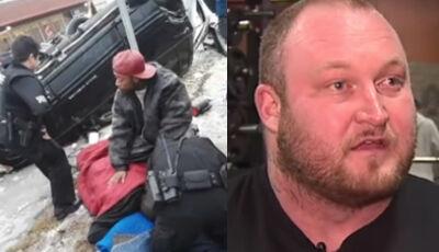 Halterofilista levanta carro de 2 T e salva homem que estava preso