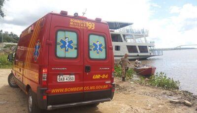 Bombeiros resgatam criança que teria caído da cama