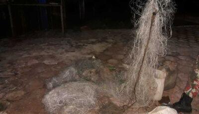 PMA apreende 10 redes, espinhéis e anzóis de galho durante operação no rio Dourado
