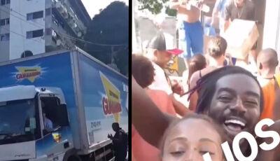 Ivete Sangalo manda caminhão com alimentos para Vidigal e emociona: vídeo