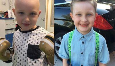 Cordão umbilical doado cura menino com câncer agressivo