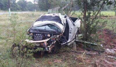 Acidente de trânsito na MS-376, deixa empresário ferido entre Vicentina e Fátima do Sul