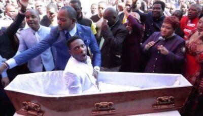 Pastor viraliza ao 'ressuscitar' homem dentro de caixão