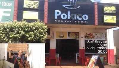 Refeição por R$ 15,00 é no Polaco Restaurante de Fátima do Sul