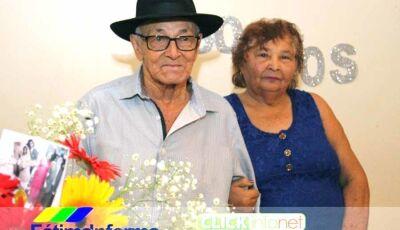 Luzia e Cícero, pais do Jorge Mercado comemoraram Bodas de Diamante
