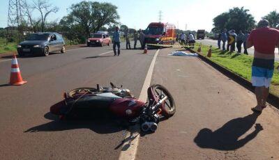Identificado motociclista que morreu em acidente próximo a pesqueiro na BR-163
