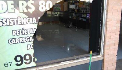 Loja de celulares é arrombada e furtada na área central de Nova Andradina