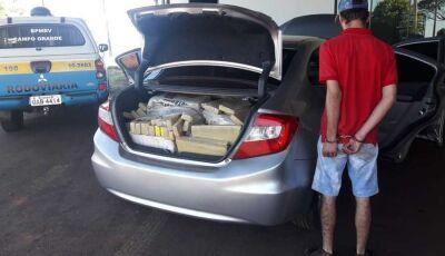 Jovem é preso transportando mais de 200 kg de maconha em Ivinhema