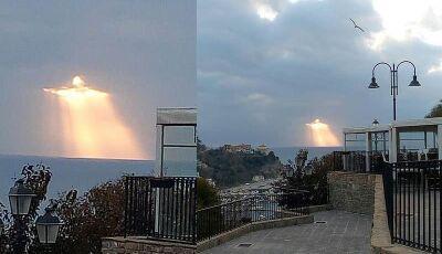 Italiano registra fenômeno no céu semelhante ao Cristo Redentor