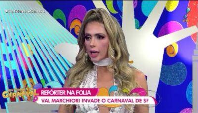 Nadja Pessoa e Caíque Aguiar discutem ao vivo no Bastidores do Carnaval